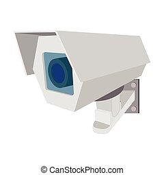 Surveillance camera cartoon icon