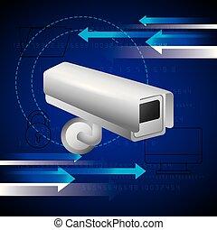 surveillance camera computer folder security technology