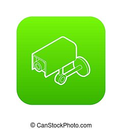 Surveillance camera icon green