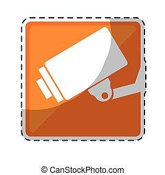surveillance camera pictogram icon image