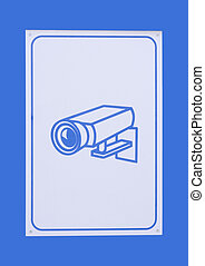 Surveillance camera - Sign for surveillance camera with...