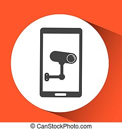 surveillance camera symbol icon shield steel