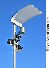 Surveillance cameras and modern lighting