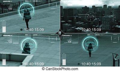 Surveillance - CCTV split screen surveillance