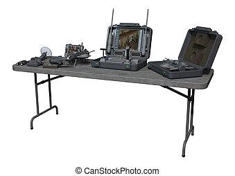 Surveillance Equipment - 3D digital render of a surveillance...