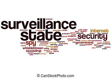 Surveillance state word cloud - Surveillance state concept...