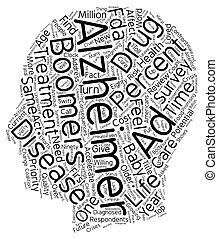 Survey Accelerated Treatment Needed For Alzheimer s Disease text background wordcloud concept