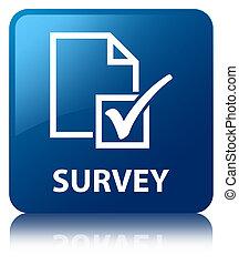 Survey blue square button