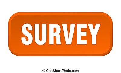 survey button. survey square 3d push button