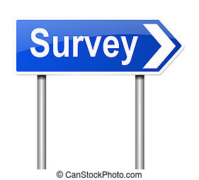 Survey concept. - Illustration depicting a sign with a...