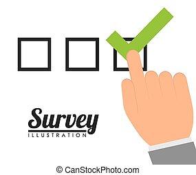 Survey design, vector illustration. - Survey design over...