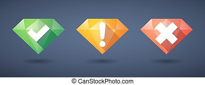 survey Diamond icon set