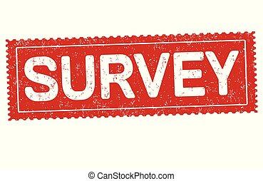 Survey grunge rubber stamp