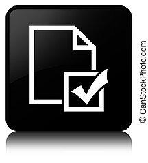 Survey icon black square button