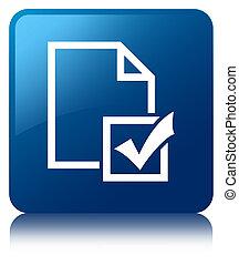 Survey icon blue square button