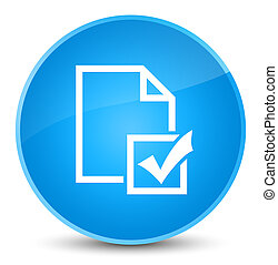 Survey icon elegant cyan blue round button