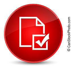 Survey icon elegant red round button