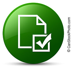 Survey icon green round button