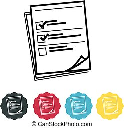 Survey Icon - Illustration