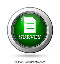 Survey icon. Internet button on white background