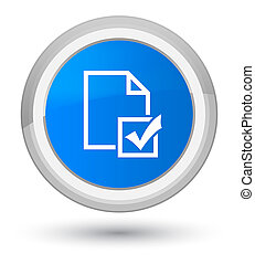 Survey icon prime cyan blue round button