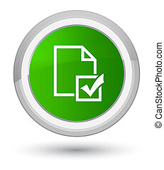 Survey icon prime green round button