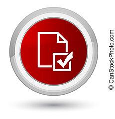 Survey icon prime red round button