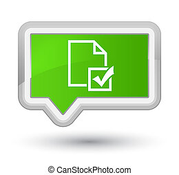Survey icon prime soft green banner button
