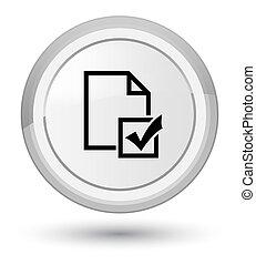 Survey icon prime white round button