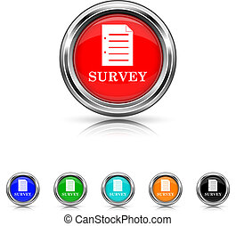 Survey icon - six colours set