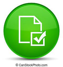 Survey icon special green round button