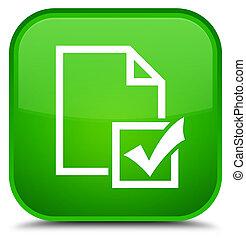 Survey icon special green square button