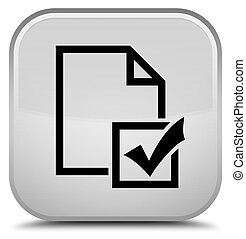 Survey icon special white square button
