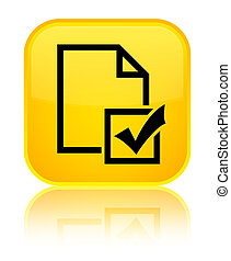 Survey icon special yellow square button