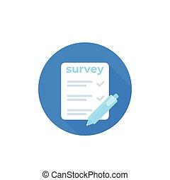 Survey icon, vector