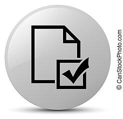Survey icon white round button