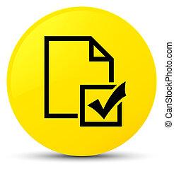 Survey icon yellow round button