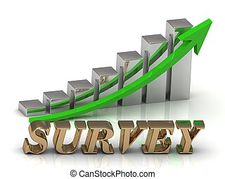 SURVEY- inscription of gold letters and Graphic growth