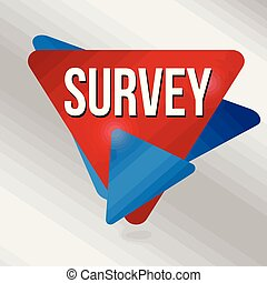 Survey label or sticker