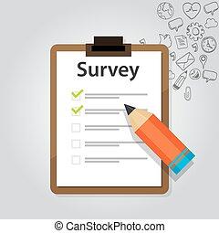survey online customer test check report marketing