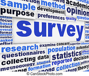 Survey poster concept. Data collection message conceptual...