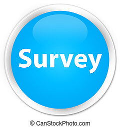 Survey premium cyan blue round button