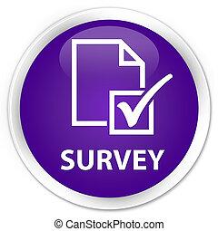 Survey premium purple round button