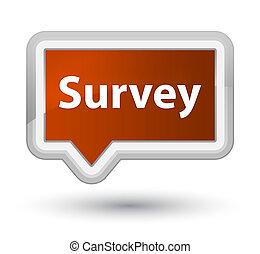 Survey prime brown banner button
