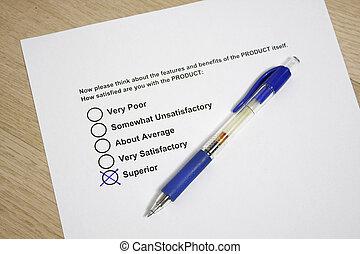 Survey product quality