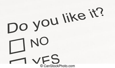 Survey question and answer: Do you like it - No. Conceptual...