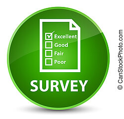 Survey (questionnaire icon) elegant green round button