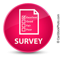 Survey (questionnaire icon) elegant pink round button