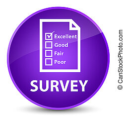 Survey (questionnaire icon) elegant purple round button