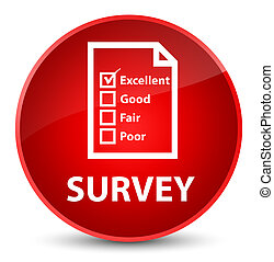 Survey (questionnaire icon) elegant red round button